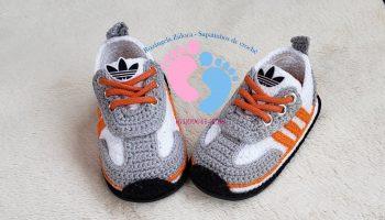Tênis Crochê Adidas – Material e Vídeo
