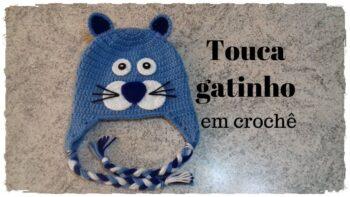 Touca Infantil Crochê Gato – Material e Vídeo