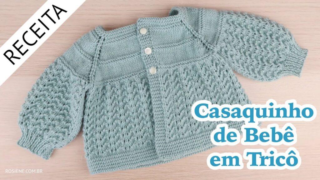 Casaquinho Bebê Tricô Chic