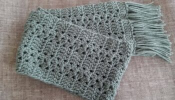 Cachecol Infantil Kids Crochê – Material Passo a Passo