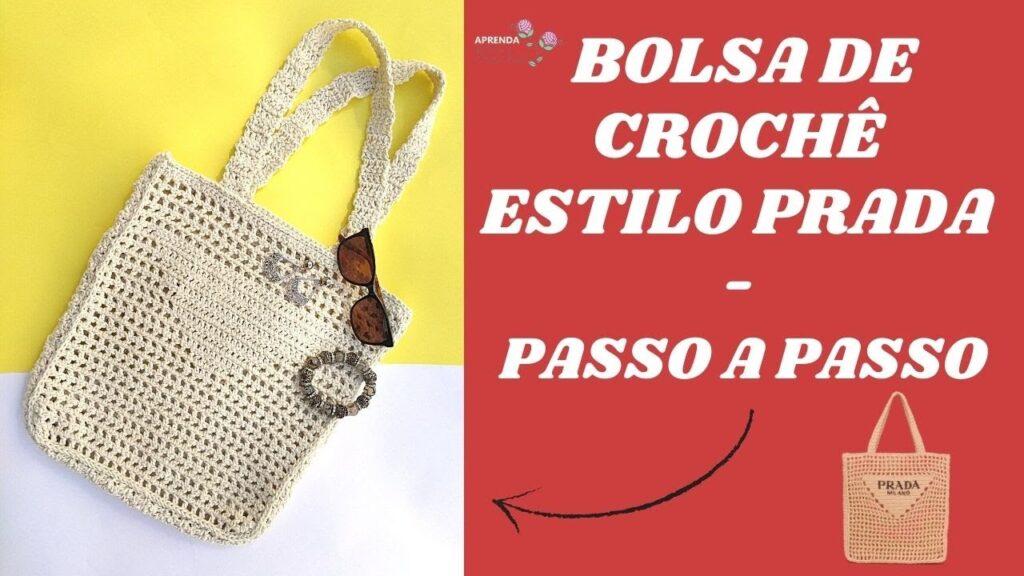 Bolsa Crochê Estilo Prada