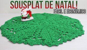 Sousplat Natal Crochê Econômico – Material e Vídeo