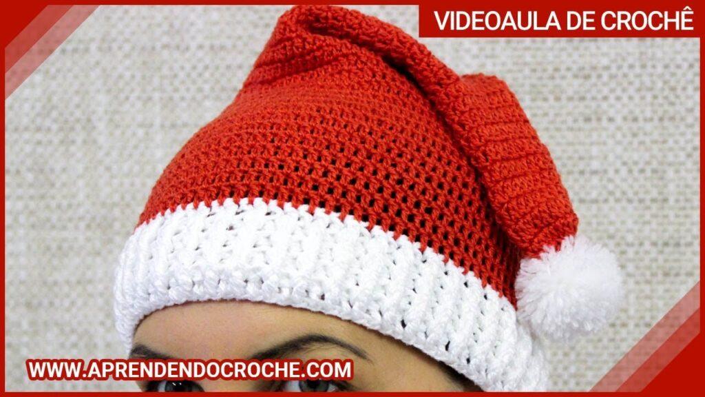 Touca Natal De Crochê